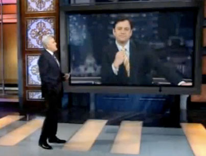 Jimmy Kimmel Wipes the Floor With Jay Leno's Giant Chin (VIDEO)
