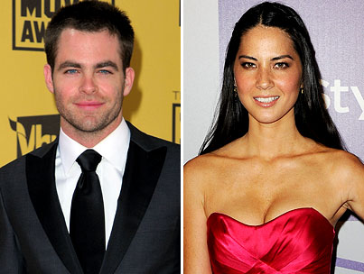 BUZZINGS: Chris Pine Is Single. Olivia Munn Is Single. Everybody Is Happy.