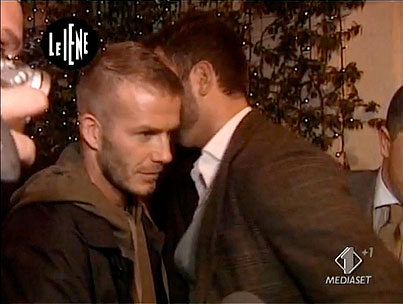 Italian Journalist Gets to the Bottom of David Beckham's Package (VIDEO)