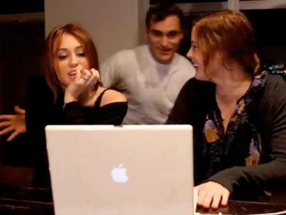 Miley Cyrus Explains Lady GaGa To Joaquin Phoenix and Liv Tyler For Suicide? (VIDEO)