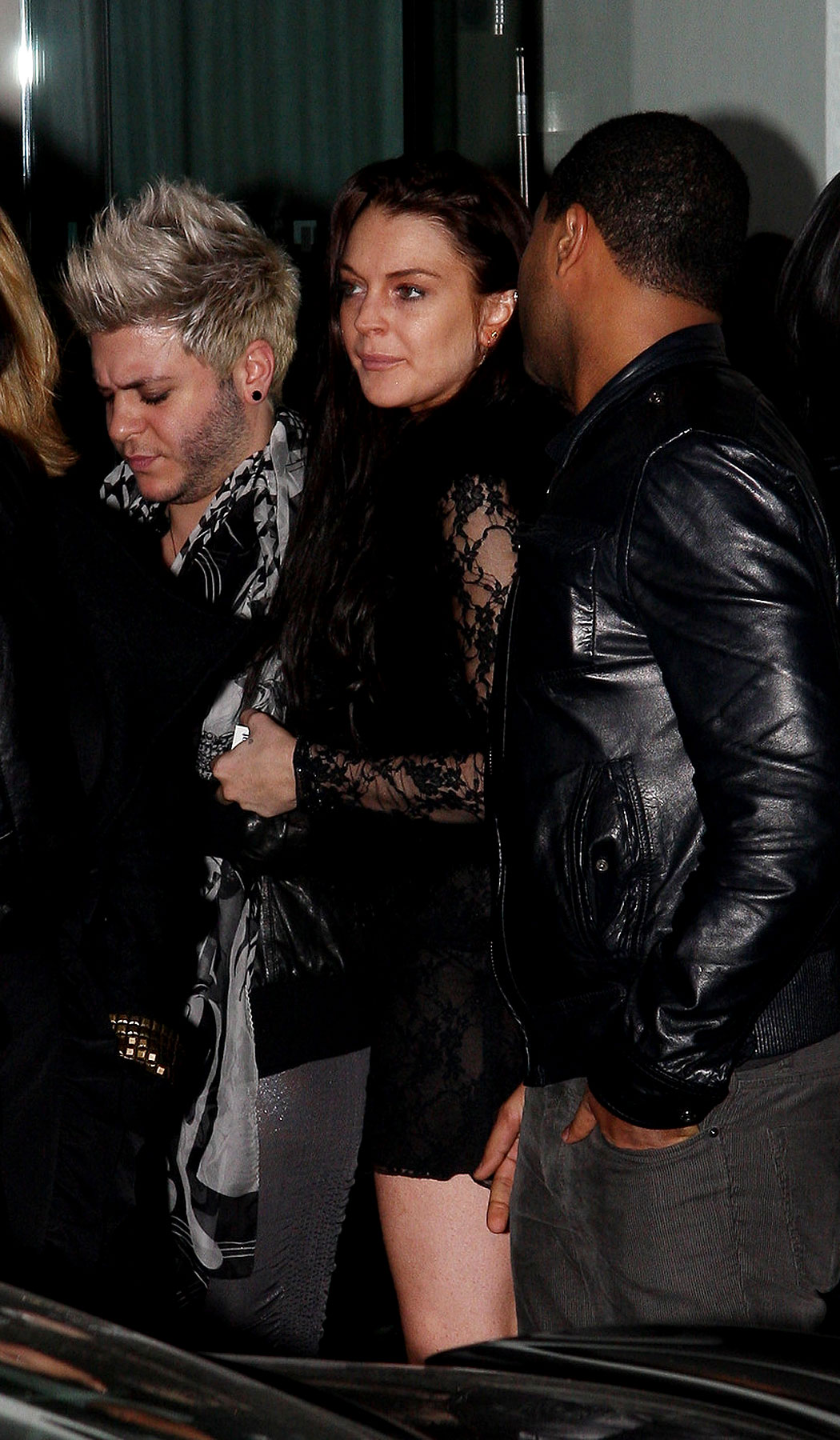 Lindsay & Sam Attend Adam Lambert's Birthday Party (PHOTOS)