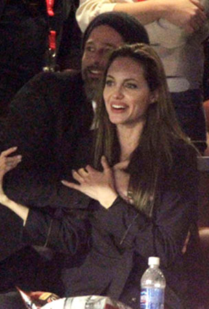 Brad Pitt & Angelina Jolie Celebrate the Saints Victory With Some Sweet Love-Groping (PHOTOS)