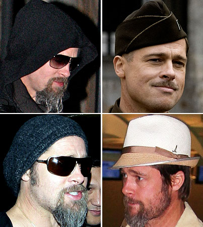 Our 5 Best Guesses As To What Might Be Under Brad Pitt's Hat