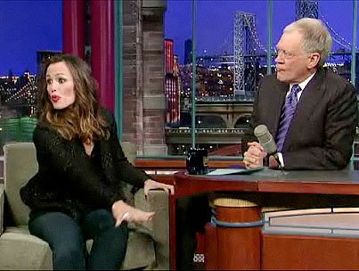 Jennifer Garner Discusses Erotic Dolphin Encounter On Letterman, On Porpoise (VIDEO)-photo