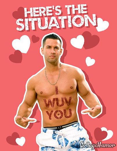 Today On The Internet: Jersey Shore Valentine's Day Cards