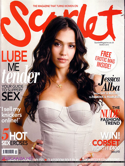 Jessica Alba Sexes Up The Cover of Some Sexy Magazine About Sex
