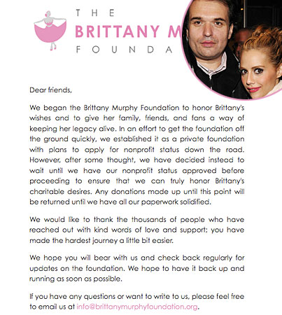 Brittany Murphy's Husband Doesn't Quite Understand This Whole Charity Thing