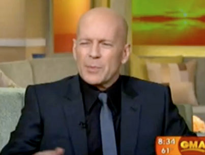 Bruce Willis Is Totally Lying About Being a Morning Person (VIDEO)