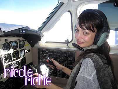 Somewhere Above Us, Nicole Richie Might Be Flying A Plane