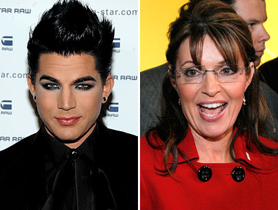 BUZZINGS: Adam Lambert and Sarah Palin Won't Be Clawing Each Other's Eyes Out on 'The Tonight Show.' Darn.