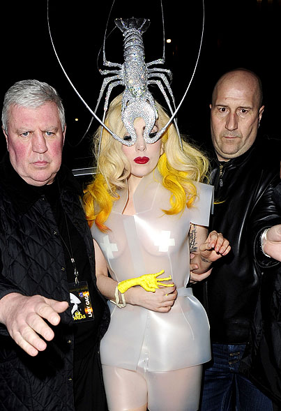 Lady Gaga Wearing A Lobster Hat And Chicken Claw Hand…No Big Deal (PHOTOS)