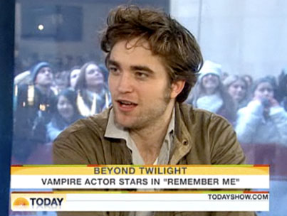 Robert Pattinson Does The Today Show For Your Monday Morning Wakeup! (VIDEO)