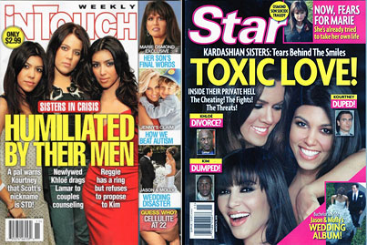 The Kardashians Form Unified Front In War Against The Tabloids!