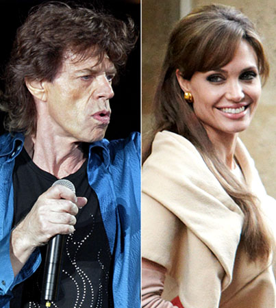 Angelina Jolie and Mick Jagger Were Totally Hooking Up, in Today's Totally Believable Gossip Item