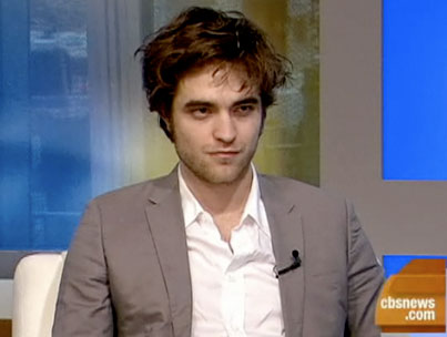 Robert Pattinson Does The Early Show To Brighten Up Your Tuesday AM (VIDEO)