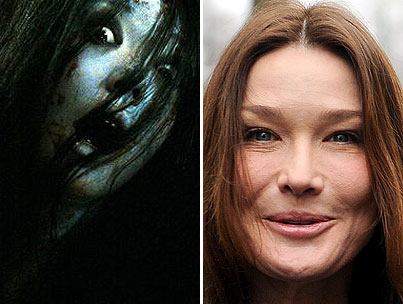 Carla Bruni Channels The Grudge With Her New Face