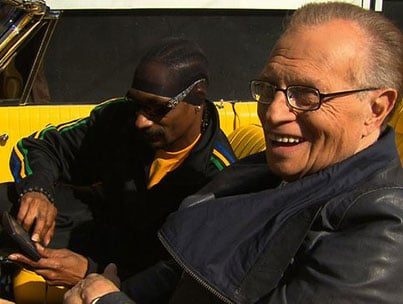 Larry King and Snoop Dogg Show How They Roll
