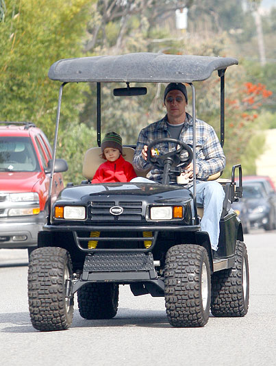 Matthew McConaughey and Little Levi Are Just Cartin' Around (PHOTOS)