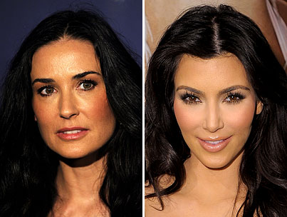 Demi Moore and Kim Kardashian Engage In Silly Twitter Battle