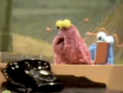 """Today On The Internet: Sesame Street Does """"Telephone"""""""