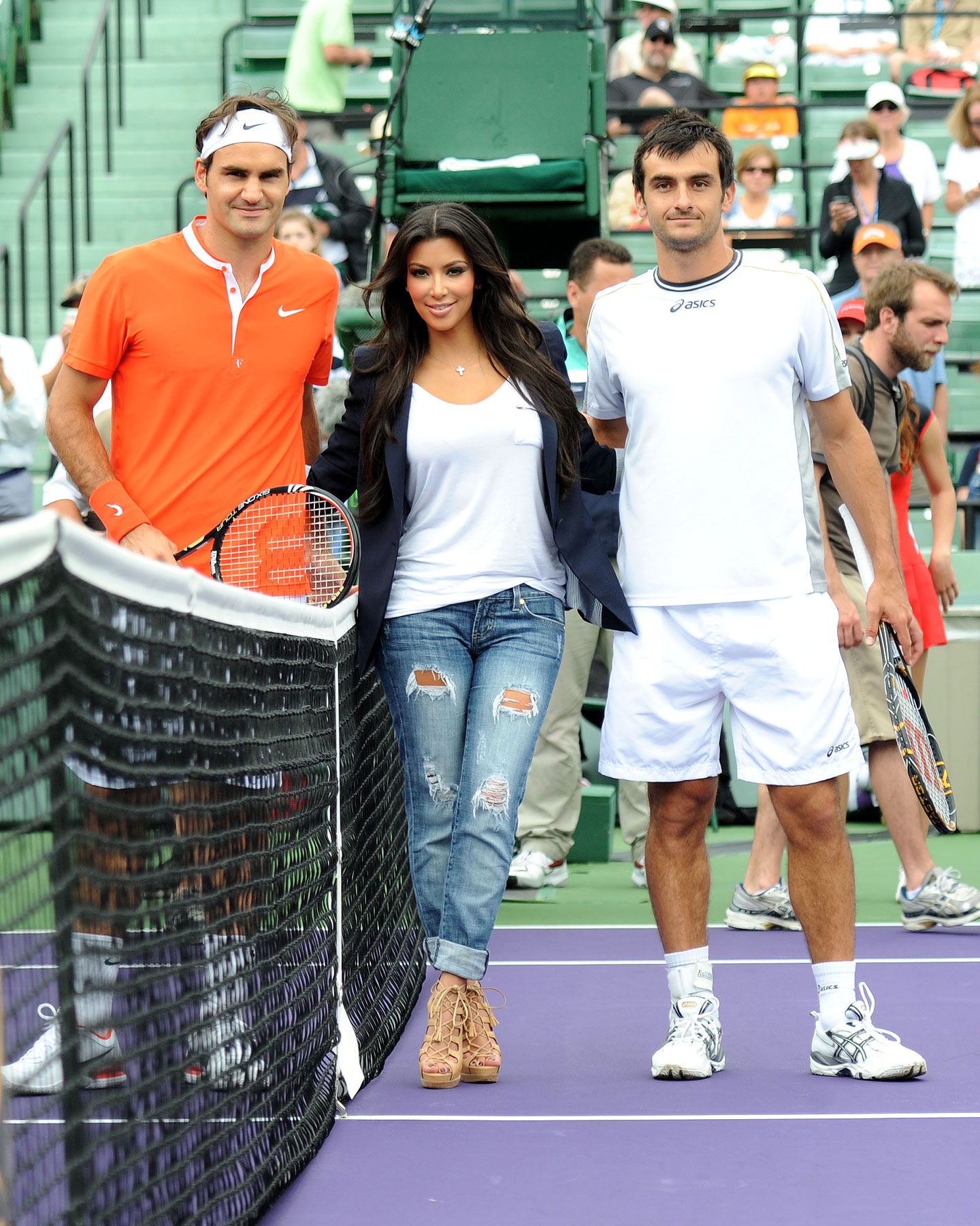 Kim Kardashian Tries Out the Whole Tennis Scene for a Change (PHOTOS)