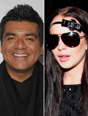 Lindsay Lohan Continues Her Streak of Rational Behavior by Pitching a Twit-Fit at George Lopez