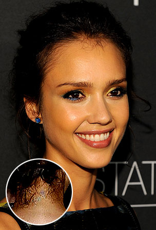 BUZZINGS: Jessica Alba Proves Stars Regret Their Cheesy Tattoos Just Like The Rest Of Us (PHOTOS)