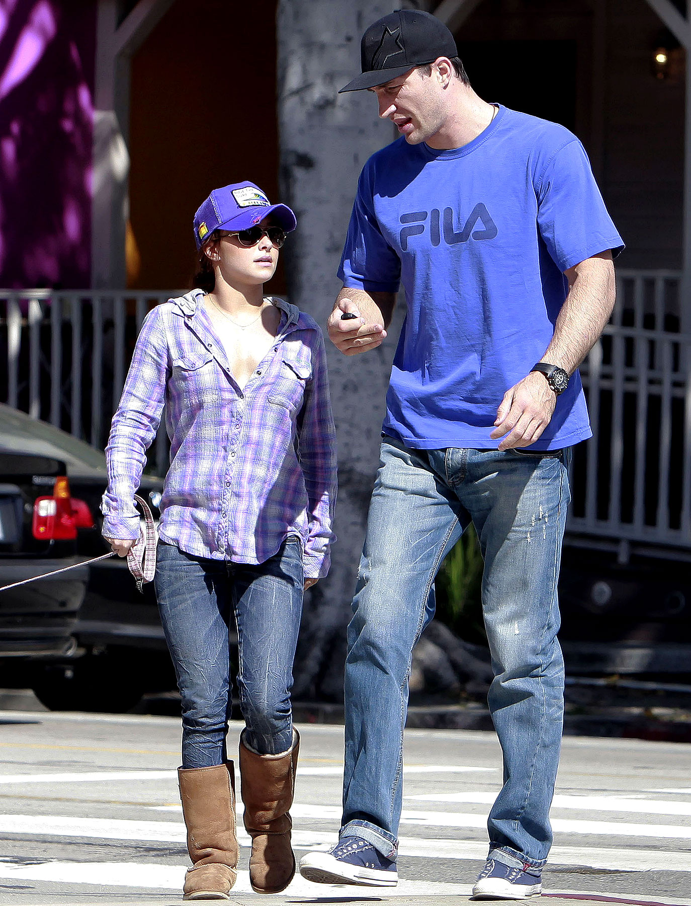 Hayden Panettiere Takes Her Dog and Pet Giant for a Walk (PHOTOS)