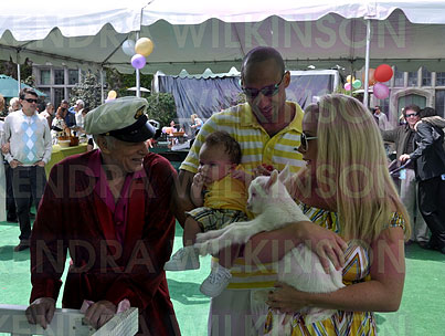 Kendra Wilkinson Introduces Baby Hank to Easter, Playboy Style