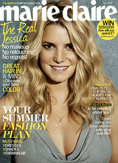 Jessica Simpson Ditches Makeup, Airbrushing For 'Marie Claire' (PHOTOS)