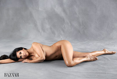 Kim Kardashian Goes Au Naturel For 'Harper's Bazaar' (PHOTOS)