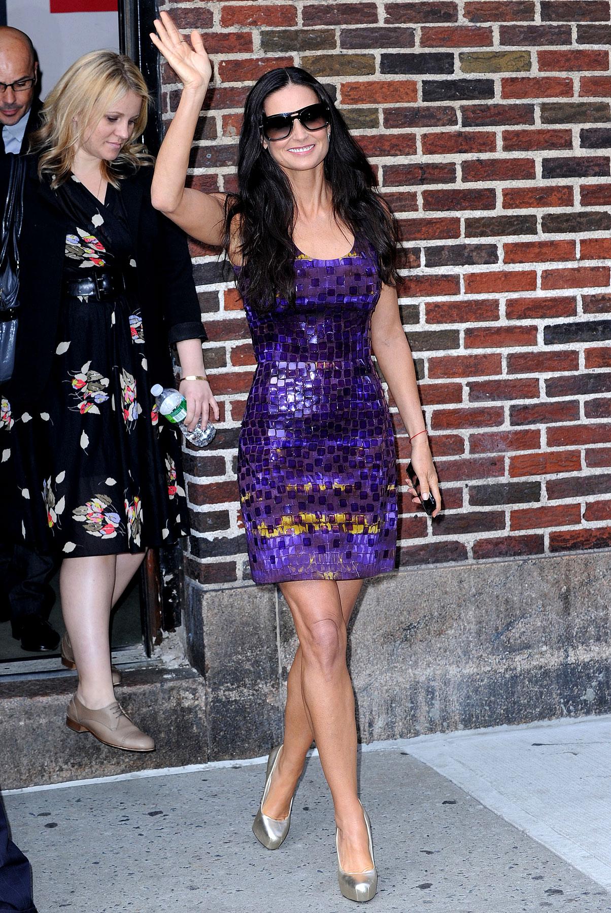 Fashion FTW: Demi Moore Is A Shiny, Purple Disco Ball (PHOTOS)