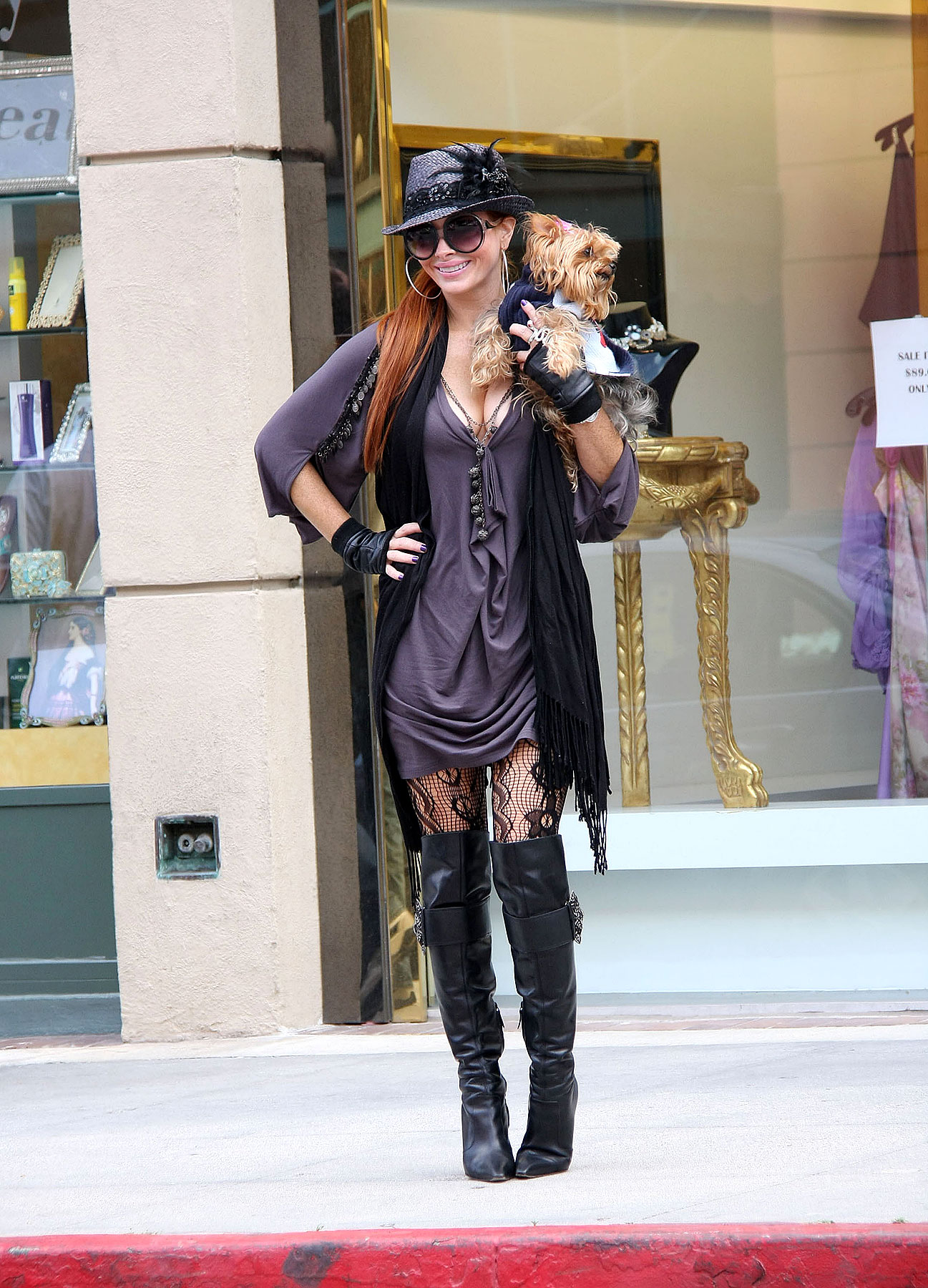 Fashion FAIL: Phoebe Price Wears Black, For Once (PHOTOS)