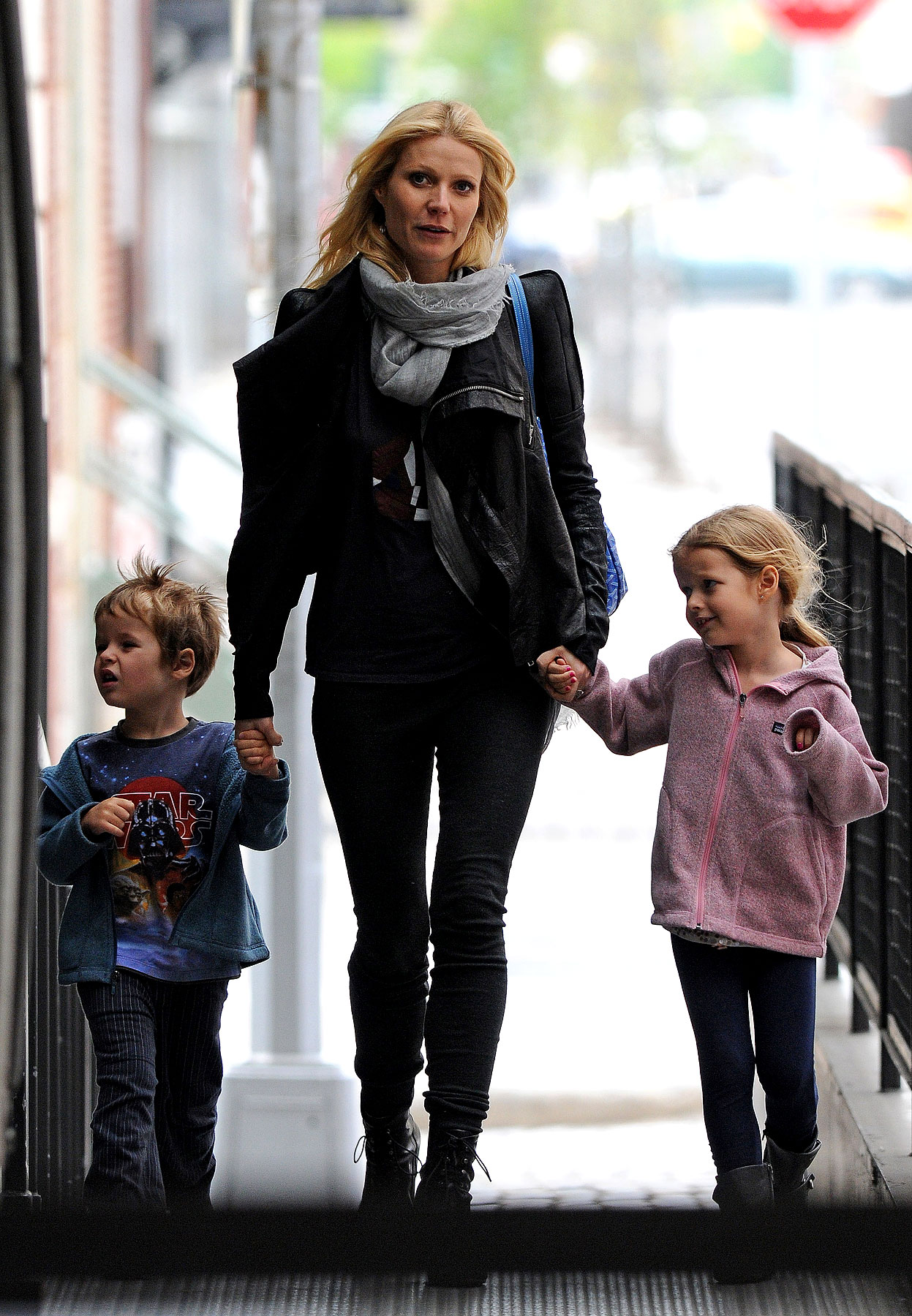 Gwyneth Paltrow Shows Her Leather Mommy Side In NYC (PHOTOS)
