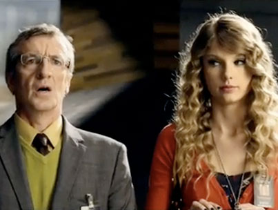 Taylor Swift Takes Break From  Being America's Sweetheart to Sell Some Cameras (VIDEO)
