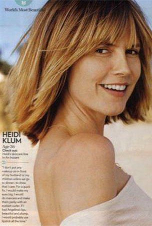Heidi Klum Goes Au Naturel For 'People' Most Beautiful List