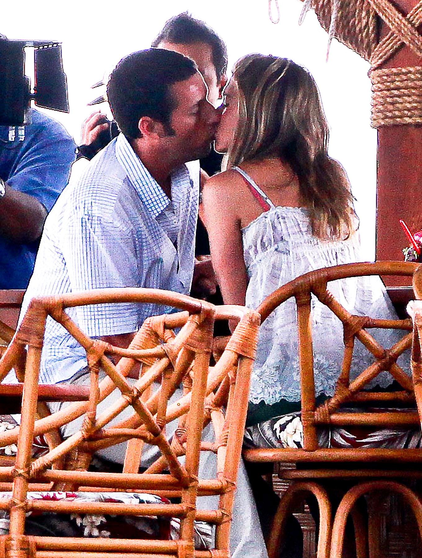 Jennifer Aniston And Adam Sandler Bring Us The Most Anticpiated Kiss Of 1997 (PHOTOS)