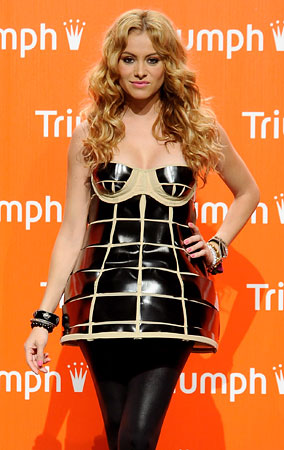 Fashion FAIL: Paulina Rubio Wears A Mini Cage (PHOTOS)