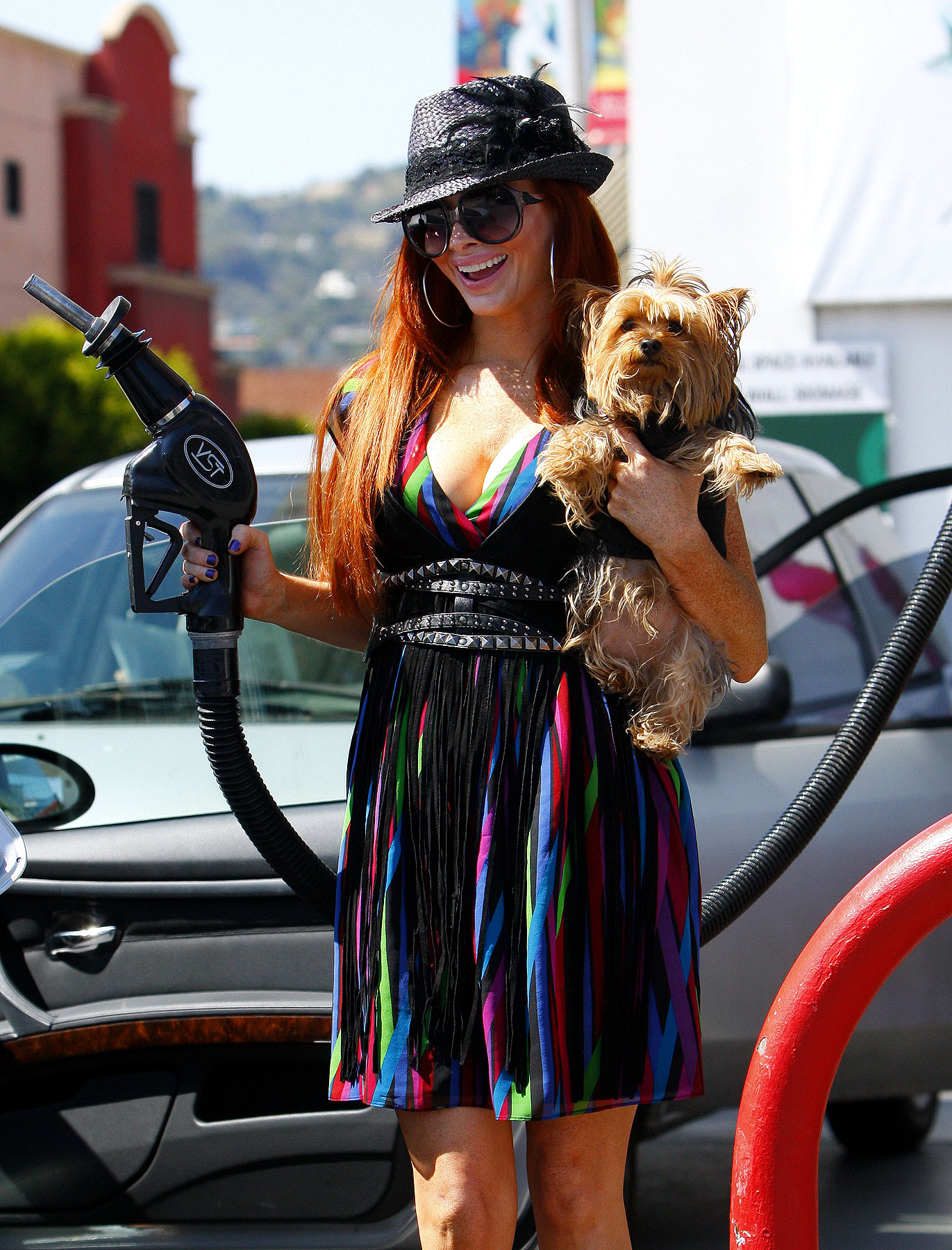 Fashion FAIL: Phoebe Price Introduces The Gas Pump Accessory (PHOTOS)