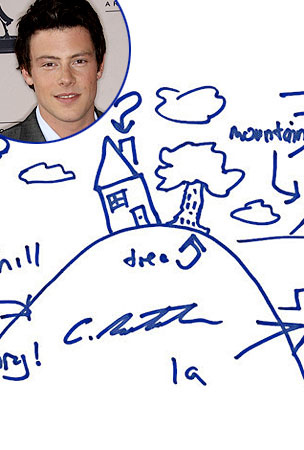 Celebs Break Out Their Pens To Doodle For Charity (PHOTOS)