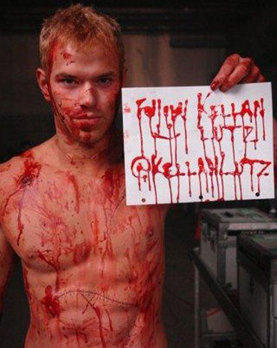 Kellan Lutz: Will Bleed for Twitter Followers