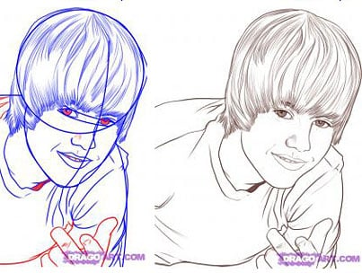 Today On The Internet: How To Draw Your Own Justin Bieber