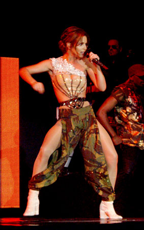 Fashion FAIL: Cheryl Cole Gets Costume-y On Stage (PHOTOS)