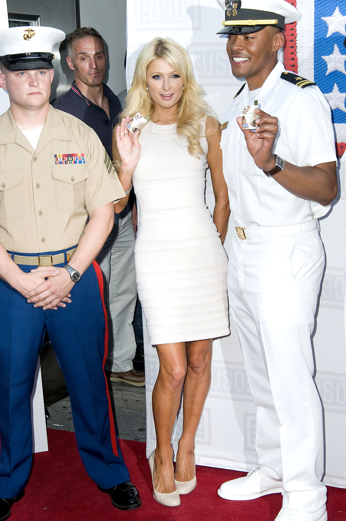 Paris And Nicky Hilton Salute The Troops (PHOTOS)