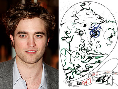 Robert Pattinson Creates Art for Charity in Continuing Bid for Sainthood
