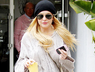 Lindsay Lohan Goes Clubbing With Ankle Bracelet