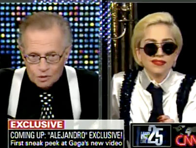"Lady Gaga Chats With Larry King, Gives ""Alejandro"" Sneak Peek (VIDEO)"