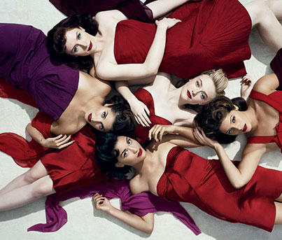 Dakota Fanning and Ashley Greene See Red for 'Vanity Fair'