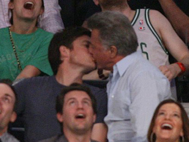 Lakers' Kiss-Cam Exposes Jason Bateman and Dustin Hoffman!
