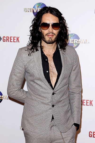 Russell Brand Accessorizes With Chest Hair (PHOTOS)